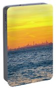 Sunset Over The City Portable Battery Charger