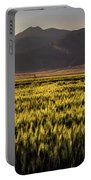 Sunset Over Wheat Portable Battery Charger