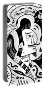 Surrealism Painter Portable Battery Charger