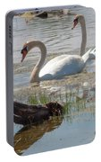Swan Family Outting  Portable Battery Charger