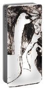 Swans After Mikhail Larionov Black Oil Painting 5 Portable Battery Charger