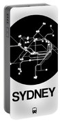 Sydney Black Subway Map Portable Battery Charger