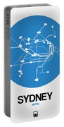 Sydney Blue Subway Map Portable Battery Charger
