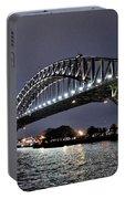 Sydney Harbor Bridge Night View Portable Battery Charger
