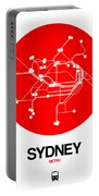 Sydney Red Subway Map Portable Battery Charger