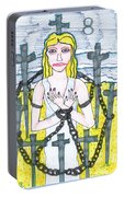 Tarot Of The Younger Self Eight Of Swords Portable Battery Charger