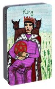 Tarot Of The Younger Self King Of Pentacles Portable Battery Charger