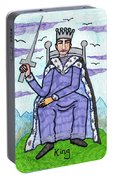 Tarot Of The Younger Self King Of Swords Portable Battery Charger