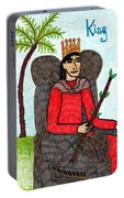 Tarot Of The Younger Self King Of Wands Portable Battery Charger