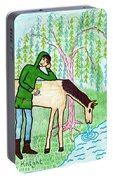 Tarot Of The Younger Self Knight Of Cups Portable Battery Charger