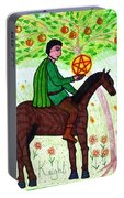 Tarot Of The Younger Self Knight Of Pentacles Portable Battery Charger