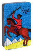 Tarot Of The Younger Self Knight Of Wands Portable Battery Charger
