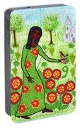 Tarot Of The Younger Self Nine Of Pentacles Portable Battery Charger