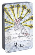 Tarot Of The Younger Self Nine Of Swords Portable Battery Charger