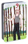 Tarot Of The Younger Self Nine Of Wands Portable Battery Charger