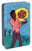 Tarot Of The Younger Self Page Of Pentacles Portable Battery Charger