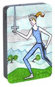 Tarot Of The Younger Self Queen Of Swords Portable Battery Charger