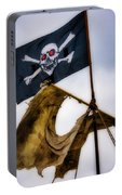 Tattered Sail And Pirate Flag Portable Battery Charger
