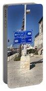 Tel-aviv Jaffa Road Sign Portable Battery Charger
