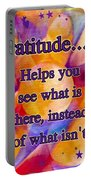 Text Art Gratitude Portable Battery Charger