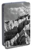 The Badlands In Black And White Portable Battery Charger