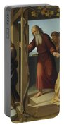 The Banishment Of Hagar  By Johann Friedrich Overbeck Portable Battery Charger