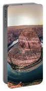 The Bend - Horseshoe Bend At Sunset In Arizona Portable Battery Charger