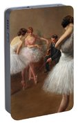 The First Pose, The Ballet Lesson Portable Battery Charger