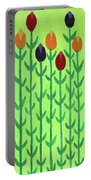 The First Sign Of Spring Portable Battery Charger by Deborah Boyd