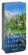 The Lord Is With Me Portable Battery Charger