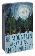 The Mountains Are Calling Portable Battery Charger