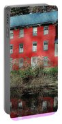 The Red House Along The Autumn Canal Portable Battery Charger