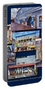 The Shops Of Provincetown Cape Cod Massachusetts Collage Pa Portable Battery Charger