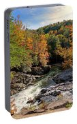 The Sinks On Little River Road In Smoky Mountains National Park Portable Battery Charger