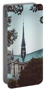 The Spire - Cathedral Of Notre Dame Paris France Portable Battery Charger