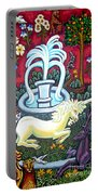 The Unicorn And Garden Portable Battery Charger