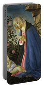The Virgin Adoring The Sleeping Christ Child Portable Battery Charger