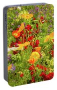 The World Laughs In Flowers - Poppies Portable Battery Charger