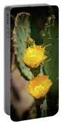 The Yellow Rose Of Arizona Portable Battery Charger by Rick Furmanek