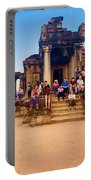 They Come To See Angkor Wat, Siem Reap, Cambodia Portable Battery Charger