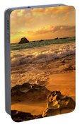 Thoughtful Morning Golden Coastal Paradise  Portable Battery Charger