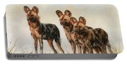 Three African Wild Dogs Portable Battery Charger
