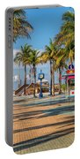 Times Square In Fort Myers Beach Florida Portable Battery Charger