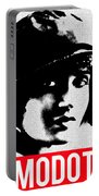 Tina Modotti Portable Battery Charger by MB Dallocchio