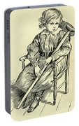 Tiny Tim From A Christmas Carol By Charles Dickens Portable Battery Charger