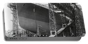 Titanic In Belfast Dry Dock 1911 Portable Battery Charger