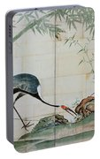 Top Quality Art - Cranes Pines And Bamboo Portable Battery Charger
