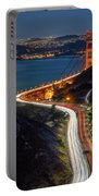 Traffic Racing Over The Golden Gate Bridge Portable Battery Charger