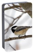 Tranquil Winter Chickadee Portable Battery Charger