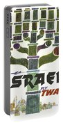 Trans World Airlines - Israel - Vintage Travel Poster Portable Battery Charger